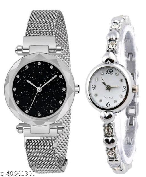 women's stylish watch combo