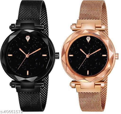 Ladies Stylish Half Chain Watch Combo