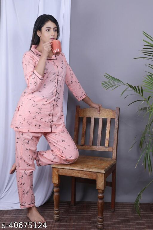 Printed Rayon New Night Suit