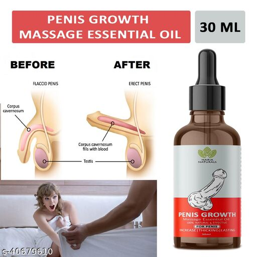 Haria Naturals 100% Naturals & Effective Penis Growth Massage Essential Oil Helps In Penis Enlargement & Improves Sexual Confidence 30ML