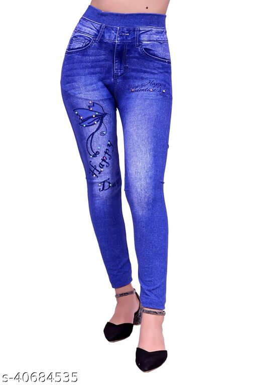 KANAK PRINTED CASUAL FORMAL BUSSINESS AND PARTY WEAR JEGGINGS FOR WOMEN'S AND GIRL'S
