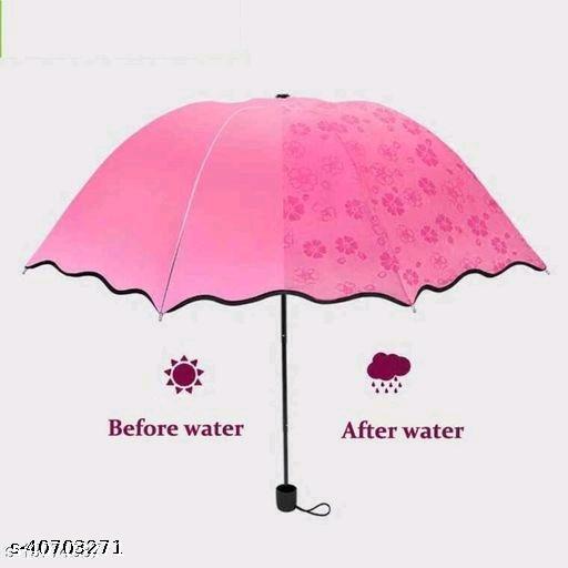 Fancy, Stylish and UV Proof Magic Umbrella (1Pc Light Pink)