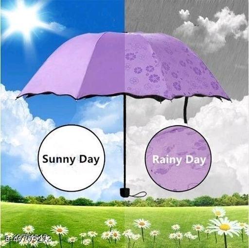 Fancy, Stylish and UV Proof Magic Umbrella (1Pc Purple)