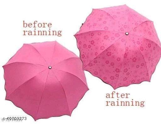 Beautiful Pink Polyester Umbrellas (1pc Pink)