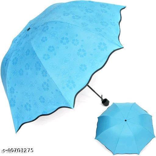 Beautiful Blue Polyester Umbrellas (1pc Blue)