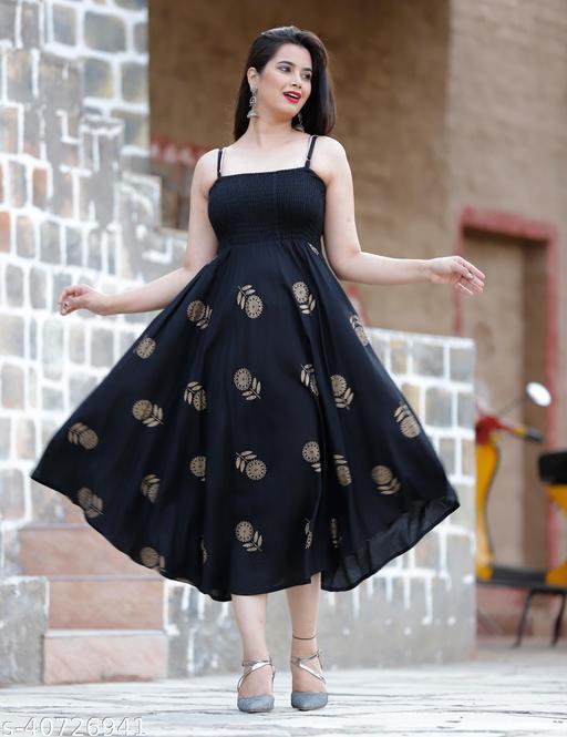 Zamaisha designed Extremely Stylish Comfortable Demanding Printed Rayon Dresses