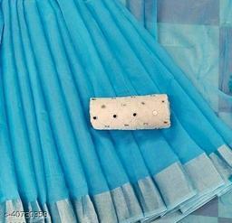ISHANI LINNEN COTTON SAREE with mirror blouse