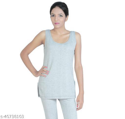 BODYSENSE Women's  Grey Thermal Top ( Pack of 1 Top )