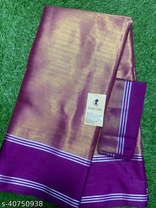 Indira Fashion Uppada Pattu Purple Plain Saree (Viti-Uppada Pattu-Purple)