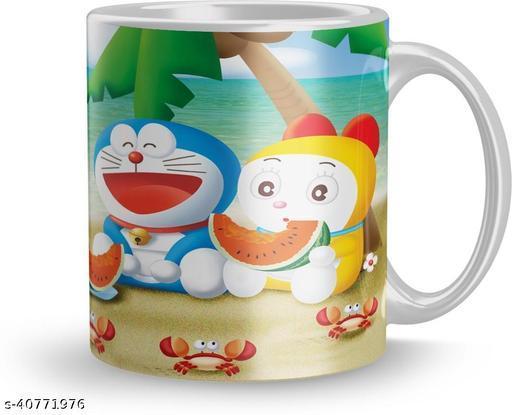 Beautiful Doraemon Cartoon Gift Mug 320Ml Multicolor ( Mug1379 )