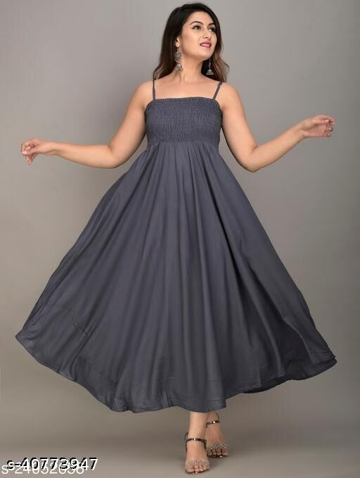 RAYON FASHIONABLE PARTY WEAR DRESSES