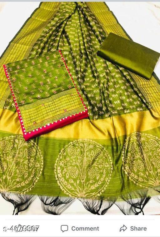 Stylish Slub Cotton Suit & Dress Material