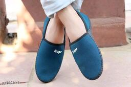 Stylish Men's Mesh Turquoise Loafers
