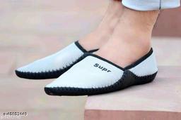 Stylish Men's Mesh White Loafers