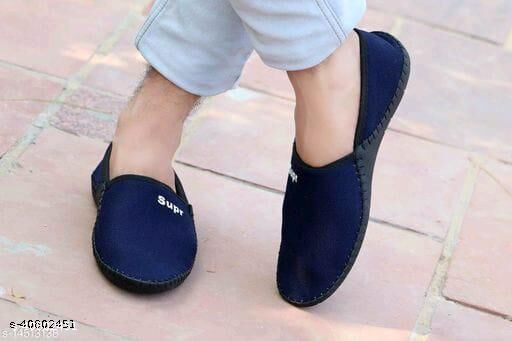 Stylish Men's Mesh Blue Loafers