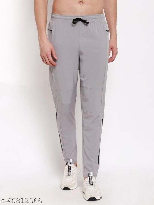 Whittlewud Men's Printed Slim Fit Polyester Stylish Trackpants For Gym & Running
