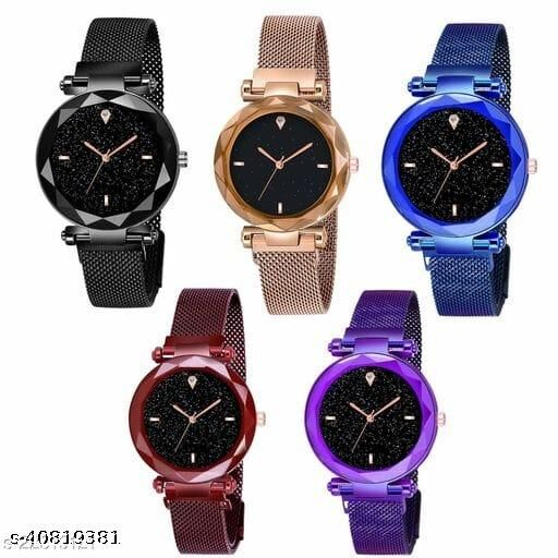 SIZZLING NEW DESIGNED MAGNETIC STRAP ANALOG WATCHES FOR WOMAN
