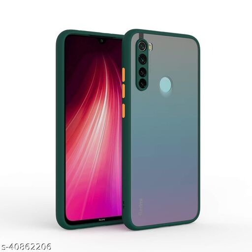 Vikefon Back Cover Case for Xiaomi Redmi Note 8 (Hybrid TPU & PC | Smoked Back - Green