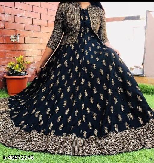 kashavi vogvish black dress with gold jacket
