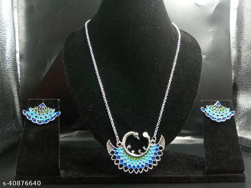 Elegant Peacock Jewellery Set