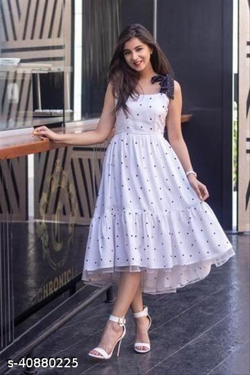 Shivaanya White Polka Dot Monsoon Dress 7