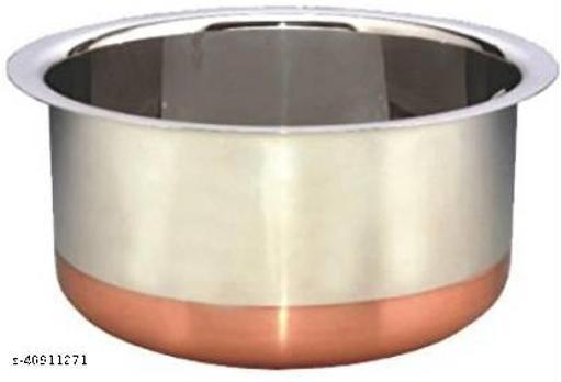 STAR HUB Copper Bottom Stainless Steel Tope/Patila  1.5L capacity 17 cm diameter