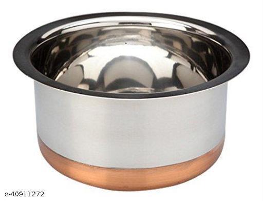 STAR HUB Stainless Steel Copper Bottom , Standard, Silver Tope 2 LITER capacity 17 cm diameter