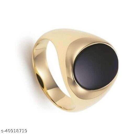 Onyx natural stone ring certified and astrological for men and women