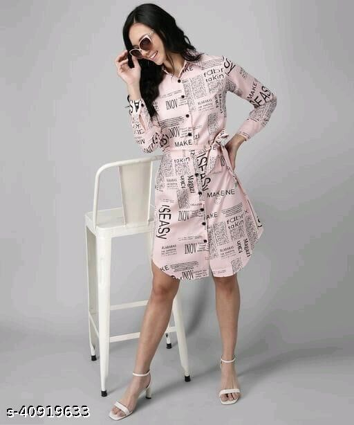 Trendy Crepe Womens  Dots Printed Dresses