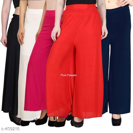 Classic Synthetic Palazzos (Pack Of 5)