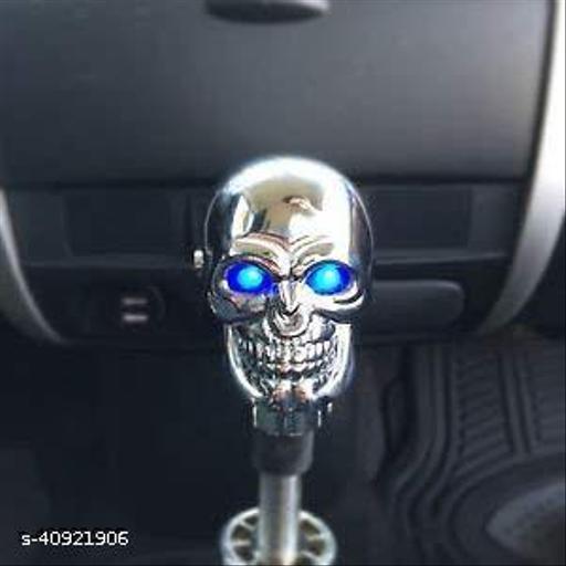 Autoaccessoriesdeal2018 CARAlloy 3D Skull Head Blue Eye LED Light Autoaccessoriesdeal2018 CAR Manual Autoaccessoriesdeal2018 Gear Shift Knob Shifter Lever