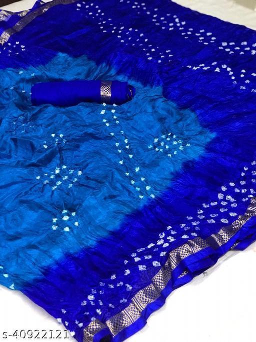 D and J Enterprise Tafeta silk Dyed Bandhej