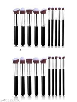 PACK OF 2 Black makeup brushes set of 10 EACH