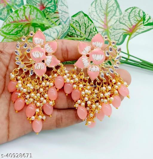 Meena Earring Peach