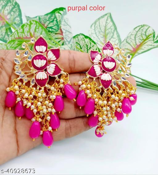 Meena Earring Purpal