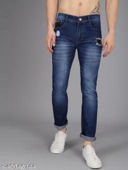 Ondra Denim Slim fit Mens Jeans Color Blue