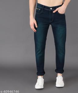 Ondra Denim Slim fit Mens Jeans Color Green