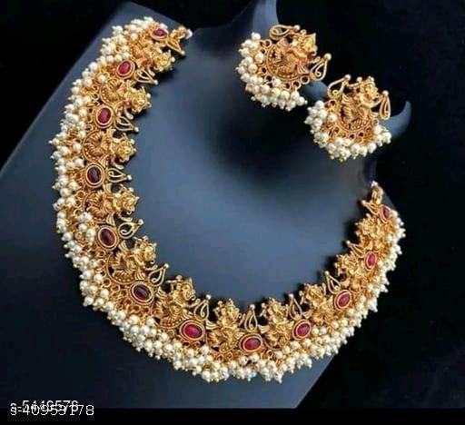 Copper Ganesh necklace set