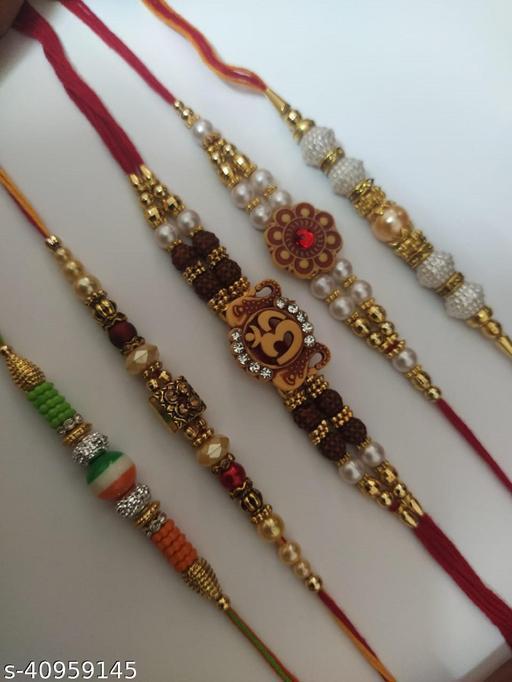 Multicolor Combo of 5 Dora Rakhi Set for Men