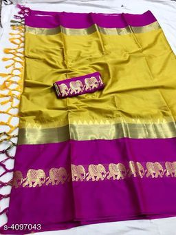 Original Soft cotton silk saree with Peocock deaign