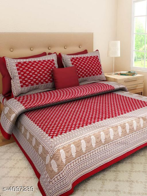 Double Bed bedsheet with two pillow covers