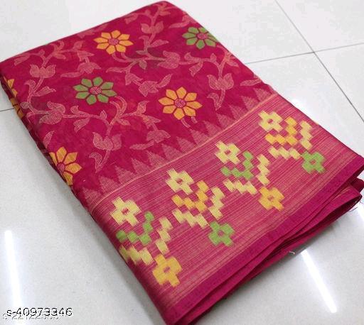 Beautiful Soft Cotton Zari Patta Saree
