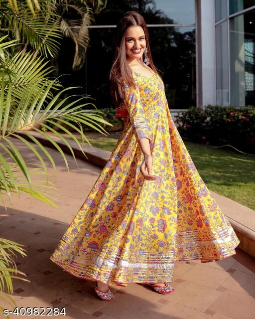 Mustard Gown Palazzo with Dupatta