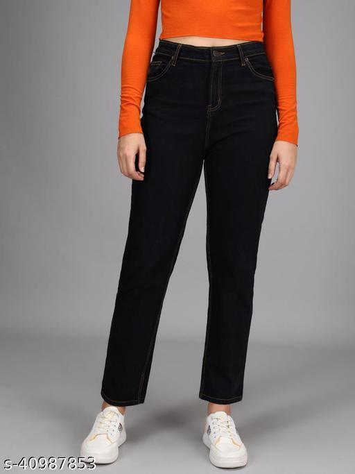 Kotty Womens High Rise Black Jeans