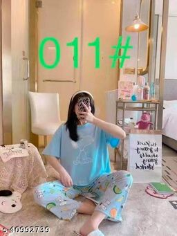 Camey Women Printed Nightsuit (NSH-320-B)
