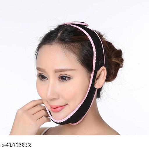 AlexVyan Pink Black Line Anti Ageing Wrinkle Free Face Slimming Chin Cheek Slim Lift Up Lifting V Line Belt Strap Mask Band Bandage - For Women Girl Female