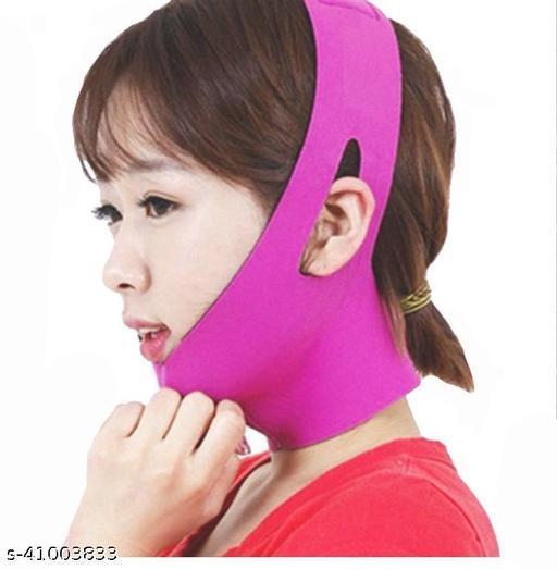 AlexVyan Pink Anti Ageing Wrinkle Free Face Slimming Chin Cheek Slim Lift Up Lifting V Line Belt Strap Mask Band Bandage - For Women Girl Female
