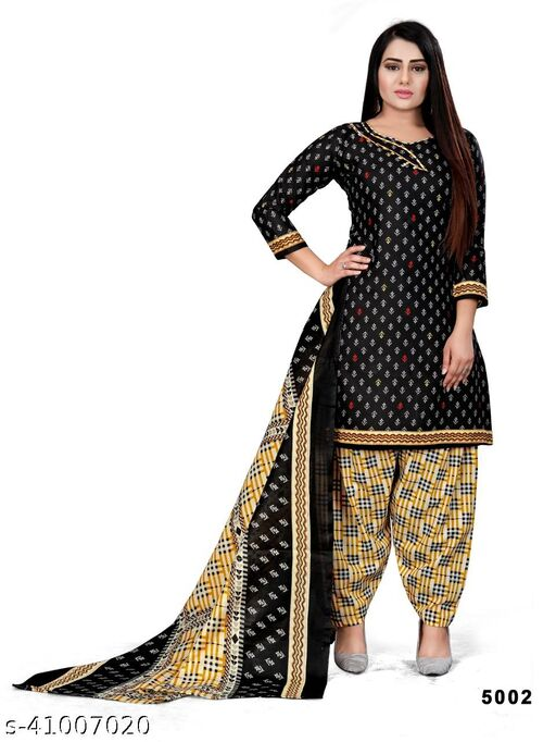 Women's cotton Printed Salwar Suit Dress Material