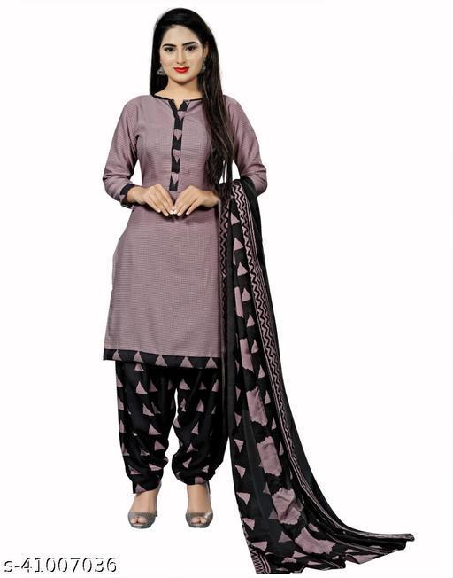 Women Indigo Ikat Print A-line Readymade Salwar Suit Set