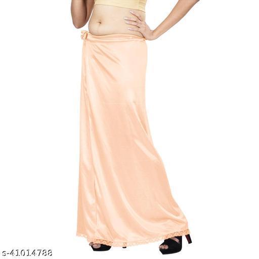 Premium Satin Women's Petticoat Free Size Peach